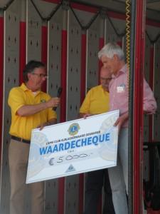 Opbrengst Truckerstocht voor Helianthus Alblasserwaard 2014
